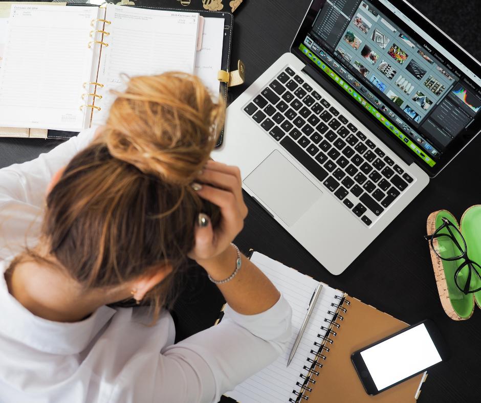 woman, sitting at laptop