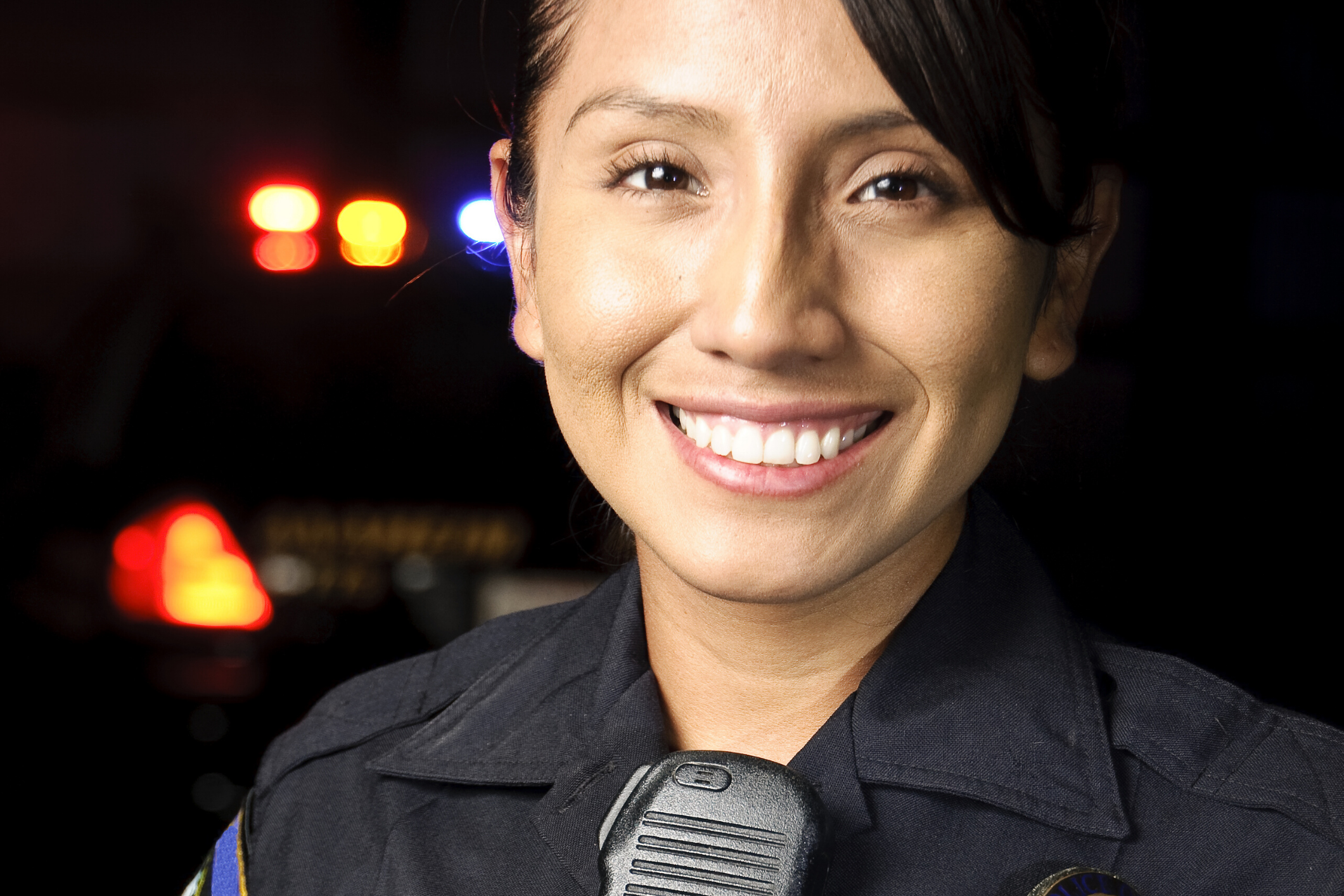 Good female police officer